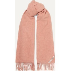 Acne Studios - Fringed Mélange Wool Scarf - Pink found on Bargain Bro UK from NET-A-PORTER UK