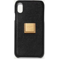 SAINT LAURENT - Embellished Textured-leather Iphone Xr Case - Black