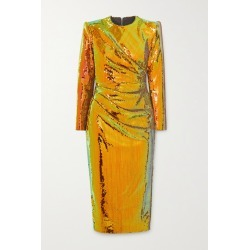 Alex Perry - Kelsey Sequined Crepe Midi Dress - Gold found on MODAPINS from NET-A-PORTER for USD $1040.00