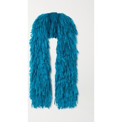Dries Van Noten - Fringed Mohair-blend Scarf - Teal found on Bargain Bro UK from NET-A-PORTER UK