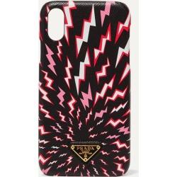 Prada - Printed Textured-leather Iphone Xr Case - Black