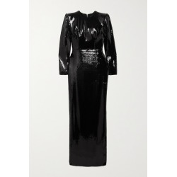 Alex Perry - Hutton Sequined Satin Gown - Black found on MODAPINS from NET-A-PORTER for USD $840.00