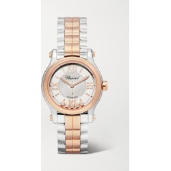 Chopard - Happy Sport Automatic 30mm 18-karat Rose Gold, Stainless Steel And Diamond Watch - Silver found on Bargain Bro Philippines from NET-A-PORTER for $13600.00