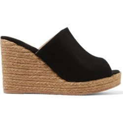 Castañer - Bubu Canvas Espadrille Wedge Sandals - Black