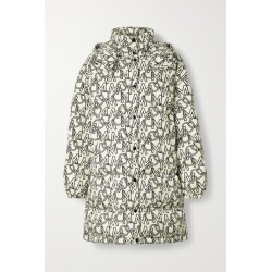 Moncler - Gaou Hooded Printed Quilted Shell Down Coat - Ivory found on Bargain Bro UK from NET-A-PORTER UK
