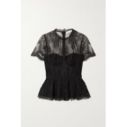 Jonathan Simkhai - Kehlani Grosgrain-trimmed Lace Bustier Top - Black found on MODAPINS from NET-A-PORTER UK for USD $549.33