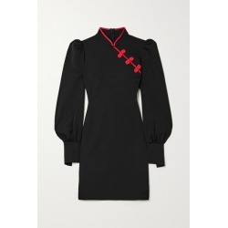 De La Vali - Pachino Satin-trimmed Twill Mini Dress - Black found on MODAPINS from NET-A-PORTER UK for USD $579.70