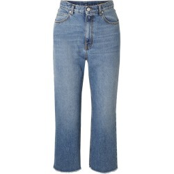 Alexander McQueen - Cropped Frayed Jeans - Blue found on MODAPINS from NET-A-PORTER UK for USD $679.81