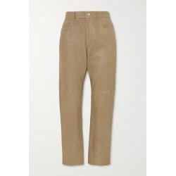 Isabel Marant Étoile - Tea Leather Straight-leg Pants - Beige found on Bargain Bro UK from NET-A-PORTER UK