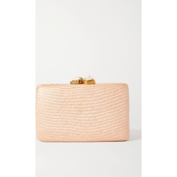 Kayu - Jen Woven Straw Clutch - Blush found on MODAPINS from NET-A-PORTER UK for USD $258.33