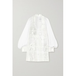 Halpern - Sequined Chiffon Mini Dress - White found on MODAPINS from NET-A-PORTER UK for USD $1745.71