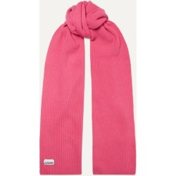 GANNI - Ribbed Wool-blend Scarf - Pink found on Bargain Bro UK from NET-A-PORTER UK