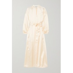Le Kasha - Quetta Belted Silk-satin Maxi Dress - Cream found on MODAPINS from NET-A-PORTER UK for USD $492.45