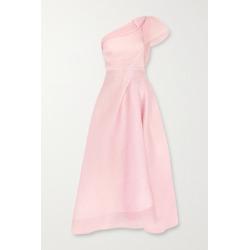 Roland Mouret - Ostuni One-shoulder Silk-blend Organza-jacquard Midi Dress - Blush found on Bargain Bro UK from NET-A-PORTER UK