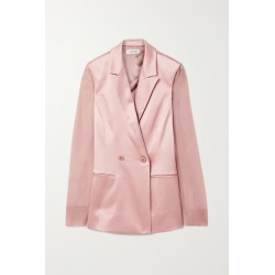 Cushnie - Double-breasted Silk-charmeuse And Chiffon Blazer - Antique rose found on MODAPINS from NET-A-PORTER UK for USD $1011.35