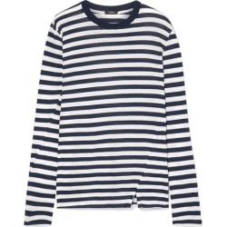 Bassike - Classic Vintage Striped Organic Cotton-jersey Top - Navy found on MODAPINS from NET-A-PORTER for USD $140.00
