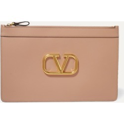 Valentino - Valentino Garavani Vring Large Leather Pouch - Pink found on Bargain Bro Philippines from NET-A-PORTER for $845.00
