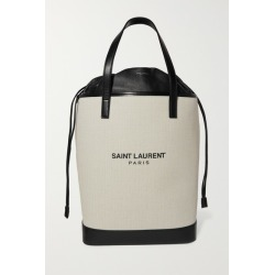 SAINT LAURENT - Teddy Leather-trimmed Printed Canvas Tote - Off-white found on MODAPINS from NET-A-PORTER UK for USD $1575.69