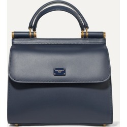 Dolce & Gabbana - Sicily Small Leather Tote - Navy found on Bargain Bro UK from NET-A-PORTER UK