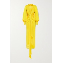 Alex Perry - Dane Gathered Draped Satin-crepe Gown - Yellow found on MODAPINS from NET-A-PORTER for USD $2600.00