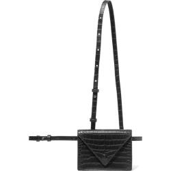 Nanushka - Hoyt Croc-effect Vegan Leather Belt Bag - Black found on MODAPINS from NET-A-PORTER UK for USD $381.21