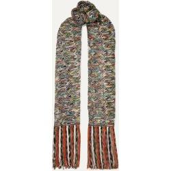 Missoni - Fringed Crochet-knit Scarf - Green found on Bargain Bro UK from NET-A-PORTER UK