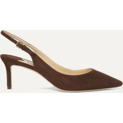 Jimmy Choo - Erin 60 Suede Slingback Pumps - Brown found on Bargain Bro UK from NET-A-PORTER UK