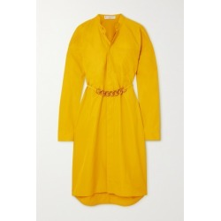 Givenchy - Chain-embellished Cotton-poplin Shirt Dress - Yellow found on Bargain Bro UK from NET-A-PORTER UK