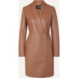 Theory - Leather Coat - Camel