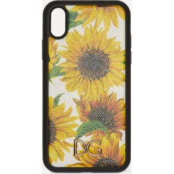 Dolce & Gabbana - Floral-print Textured-leather Iphone Xr Case - Yellow