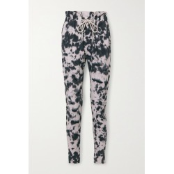 Bassike - Tie-dyed Organic Cotton-jersey Track Pants - Black found on MODAPINS from NET-A-PORTER UK for USD $172.21