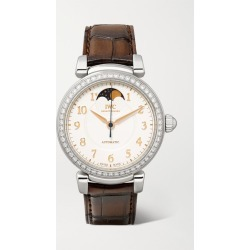 IWC SCHAFFHAUSEN - Da Vinci Automatic Moon Phase 36mm Stainless Steel, Alligator And Diamond Watch - Silver found on Bargain Bro Philippines from NET-A-PORTER for $13900.00
