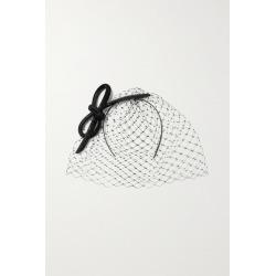 Philip Treacy - Crystal-embellished Mesh And Glittered Velvet Fascinator - Black found on Bargain Bro UK from NET-A-PORTER UK
