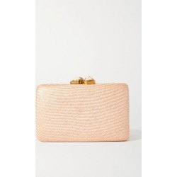 Kayu - Jen Woven Straw Clutch - Blush found on MODAPINS from NET-A-PORTER for USD $245.00