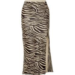 Anine Bing - Dolly Zebra-print Silk-satin Midi Skirt - Black found on MODAPINS from NET-A-PORTER for USD $299.00