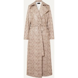 Michael Lo Sordo - Snake-effect Faux Leather Trench Coat - Snake print found on MODAPINS from NET-A-PORTER UK for USD $765.33