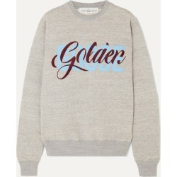 Golden Goose - Printed Flocked Cotton-jersey Sweatshirt - Gray found on Bargain Bro UK from NET-A-PORTER UK