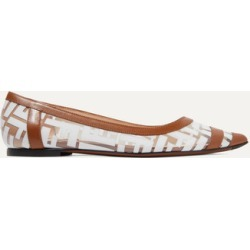 Fendi - Colibri Leather-trimmed Logo-print Pvc Point-toe Flats - Tan found on Bargain Bro Philippines from NET-A-PORTER for $390.00