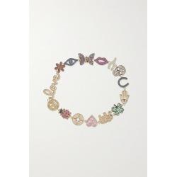 Sydney Evan - 14-karat Gold, Diamond And Sapphire Bracelet