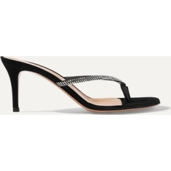 Gianvito Rossi - Calypso 70 Crystal-embellished Suede Sandals - Black found on Bargain Bro Philippines from NET-A-PORTER for $995.00
