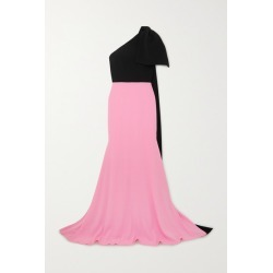 Alex Perry - Anderson One-shoulder Bow-detailed Two-tone Crepe Gown - Baby pink found on MODAPINS from NET-A-PORTER UK for USD $1797.29