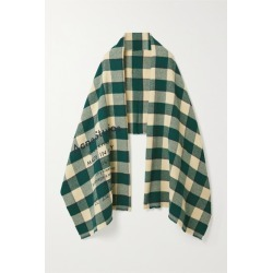 Acne Studios - Checked Wool Scarf - Forest green found on Bargain Bro UK from NET-A-PORTER UK