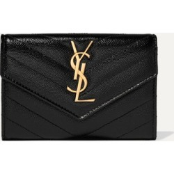 SAINT LAURENT - Quilted Textured-leather Wallet - Black found on Bargain Bro Philippines from NET-A-PORTER for $425.00