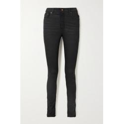 SAINT LAURENT - High-rise Skinny Jeans - Black found on Bargain Bro UK from NET-A-PORTER UK