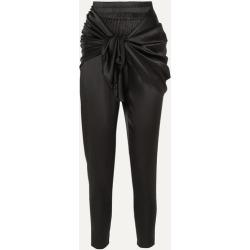 Nackiyé - Hammam Draped Stretch-silk Satin Tapered Pants - Black found on Bargain Bro UK from NET-A-PORTER UK