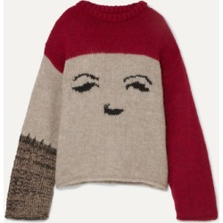 ALEXACHUNG - Oversized Intarsia-knit Sweater - Cream found on MODAPINS from NET-A-PORTER UK for USD $339.90