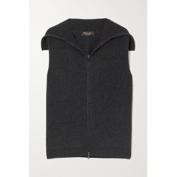 Loro Piana - Ribbed Cashmere Vest - Dark gray found on MODAPINS from NET-A-PORTER UK for USD $1703.66