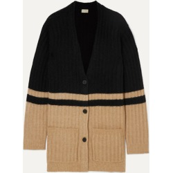 By Malene Birger - Congoe Striped Knitted Cardigan - Beige found on MODAPINS from NET-A-PORTER UK for USD $346.20