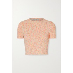 Alice Olivia - Ciara Cropped Cotton-blend Sweater - Blush found on MODAPINS from NET-A-PORTER for USD $225.00