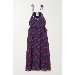 Figue - Alina Shell-embellished Printed Silk-chiffon Dress - Purple found on MODAPINS from NET-A-PORTER for USD $745.00
